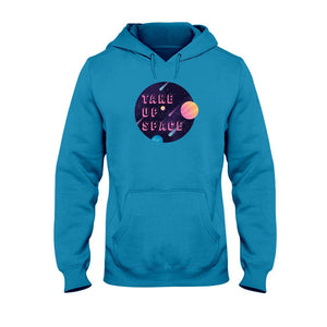 Take Up Space Classic Fit Pullover Hooded Sweatshirt-Sweatshirts-Sapphire-S-AllGo