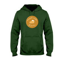 Load image into Gallery viewer, Made with Love Classic Fit Pullover Hooded Sweatshirt-Sweatshirts-Forest Green-S-AllGo