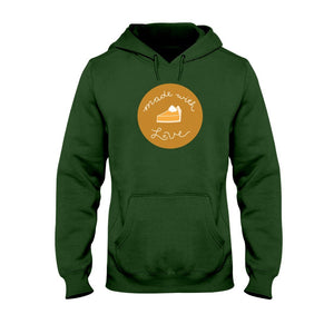 Made with Love Classic Fit Pullover Hooded Sweatshirt-Sweatshirts-Forest Green-S-AllGo