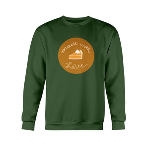 Made with Love Classic Fit Crewneck Sweatshirt-Sweatshirts-Forest Green-S-AllGo