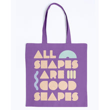 Load image into Gallery viewer, All Shapes are Good Shapes Canvas Tote-Accessories-Purple-M-AllGo