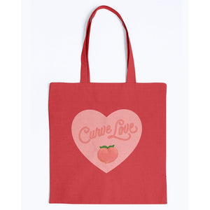 Curve Love Canvas Tote-Accessories-Red-M-AllGo