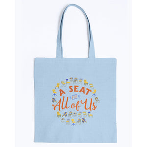 A Seat for All of Us Canvas Tote-Accessories-Light Blue-M-AllGo