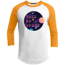 Load image into Gallery viewer, Take Up Space Classic Fit Raglan 3/4 Sleeve T-Shirt-T-Shirts-White/Gold-XS-AllGo