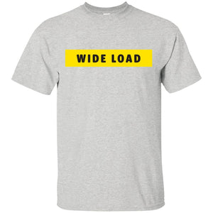 W I D E L O A D Classic Fit Cotton T-Shirt in Ash from AllGo's merch store featuring plus size statement apparel and more