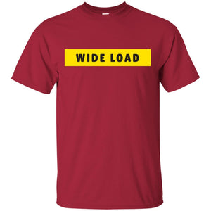 W I D E L O A D Classic Fit Cotton T-Shirt in Cardinal from AllGo's merch store featuring plus size statement apparel and more