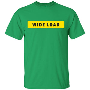 W I D E L O A D Classic Fit Cotton T-Shirt in Irish Green from AllGo's merch store featuring plus size statement apparel and more