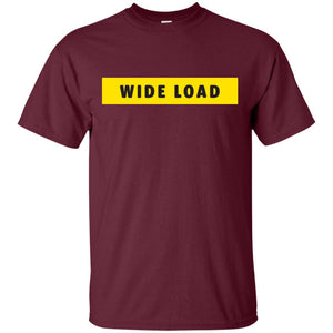 W I D E L O A D Classic Fit Cotton T-Shirt in Maroon from AllGo's merch store featuring plus size statement apparel and more