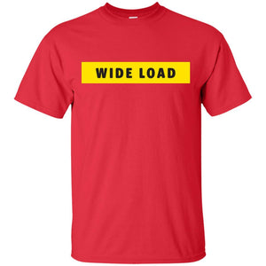 W I D E L O A D Classic Fit Cotton T-Shirt in Red from AllGo's merch store featuring plus size statement apparel and more
