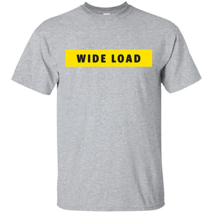 W I D E L O A D Classic Fit Cotton T-Shirt in Sport Grey from AllGo's merch store featuring plus size statement apparel and more
