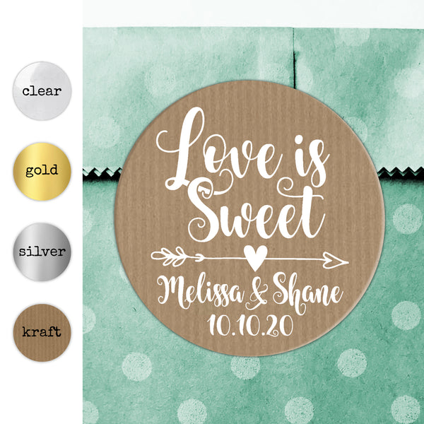 Love is sweet wedding stickers for mason jars wedding stickers for favours