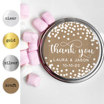 Thank you round stickers and labels