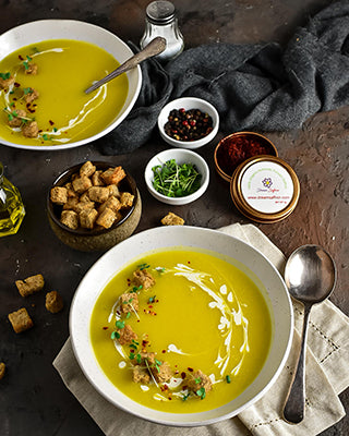 SAFFRON POTATO SOUP