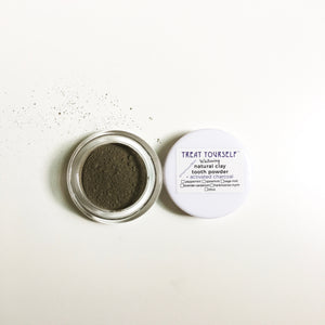 Sample Size Natural Clay Tooth Powder - Remineralizing & Whitening