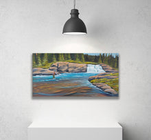 Premium Stretched Canvas Print,Mountain Fly Fishing River,  Museum/Gallery Wrap Giclee, Ready to Hang Wall Decor.  Free Shipping in USA