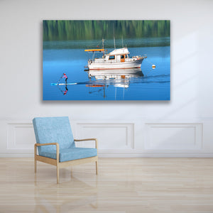 Northwest Paddle Board Metal Print, Maritime Ocean Boat Wall Art Photography for Home, Office or Beach House.  Free Shipping in USA