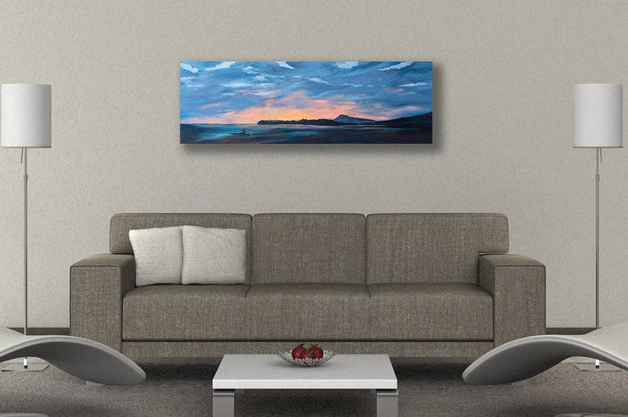 Hawaii Diamond Head Sunset Painting