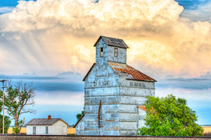 Rustic Grain Silo Photo, Farm House Picture, Metal Wall Art for Home or Office Decor, FREE SHIPPING in USA!