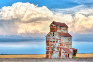 Rusty Grain Elevator Silo Photo, Farm House Picture, Metal Wall Art for Home or Office Decor, Unique Gift Ideas, FREE SHIPPING in USA!