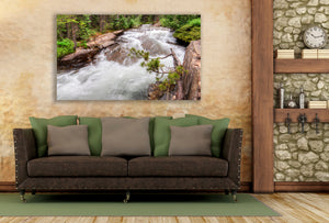 Mountain River Metal Print, Colorado Landscape Picture for Home or Office Wall Art, Large Size, Ready to Hang, Free Shipping!