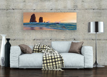Oregon Sunset Cannon Beach Seascape Stretched Canvas Print,  Gallery Wrap Giclee, Ready to Hang Affordable Wall Decor.  Free Shipping in USA