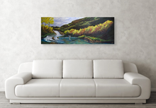 Mountain Fly Fishing River Stretched Canvas Print,  Gallery Wrap Giclee, Ready to Hang Affordable Wall Decor.  Free Shipping in USA