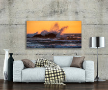 Metal Wall Art Photography Print,  Durable Gallery Quality, Ready to Hang Affordable Decor, Ocean Waves, Sunset, Free Shipping.