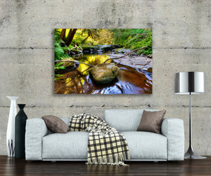 Rainforest Waterfall Photo, High Quality Metal Wall Art Print, Ready to Hang Home or Office Picture Decor,  Zen Decor, Free Shipping in USA.