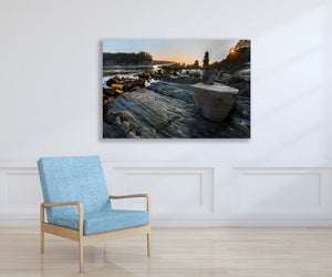 Ocean Beach Rock Photo, High Quality Metal Wall Art Print, Ready to Hang Home or Office Picture Decor,  Zen Tidepool, Free Shipping in USA.