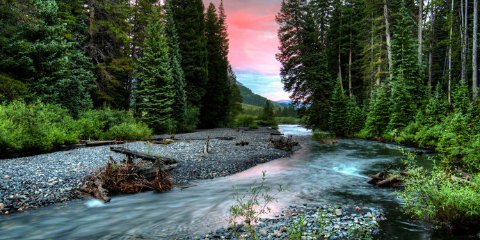 Metal Wall Art Photography Print,  Durable Gallery Quality, Ready to Hang Affordable Decor, Nature Mountain Stream Image.   Free Shipping.