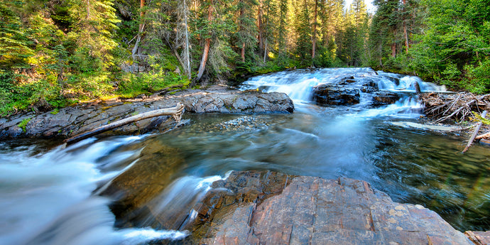 Colorado Mountain Stream Waterfall Photo, High Quality Metal Wall Art Print, Ready to Hang Home or Office Picture Decor, Free Shipping USA