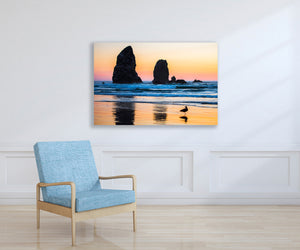 Ocean Beach Reflection Photo, High Quality Metal Wall Art Print, Ready to Hang Home or Office Picture Decor, Zen Decor, Free Shipping in USA