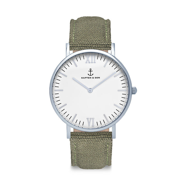 "Campus Silver ""OLIVE"" Canvas"