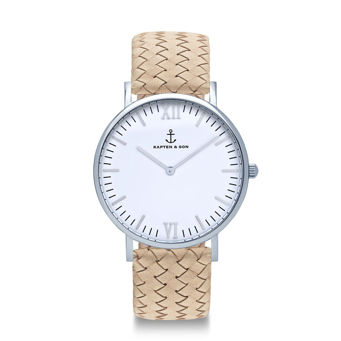 "Campus Silver ""Sand Woven Leather"""