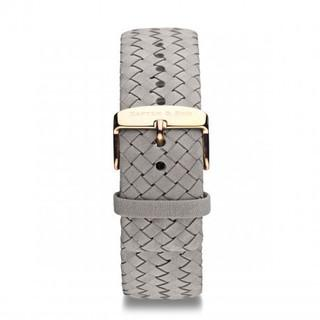"Leather Strap ""Grey Woven Leather"" - Kapten & Son - Taiwan"