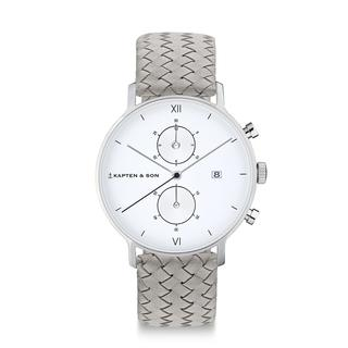 "Chrono Silver ""Grey Woven Leather"""