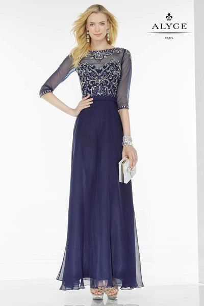 ALYCE Dress 18 / Navy/Silver 5742