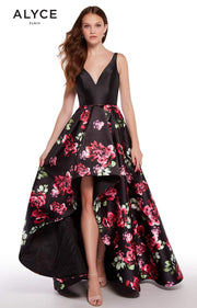 ALYCE Dress 6 / Black/Rose 1281