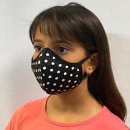 DRESS PEOPLE MASKS MSKJR-BLK/WHT POLKADOT
