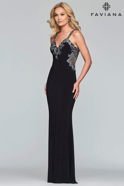 FAVIANA Dress 10 / Black S7999