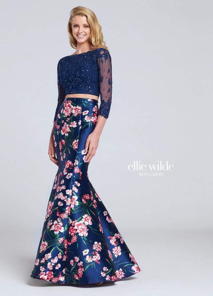Mon Cheri Dress 4 / Navy/Multi 117090