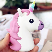 Load image into Gallery viewer, Portable Unicorn & Emoji Power Bank 8000 mAh