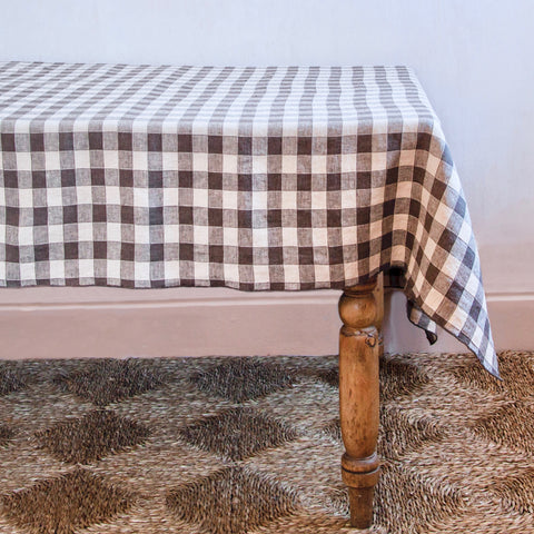 Vintage Checkerboard Tablecloth, Terre