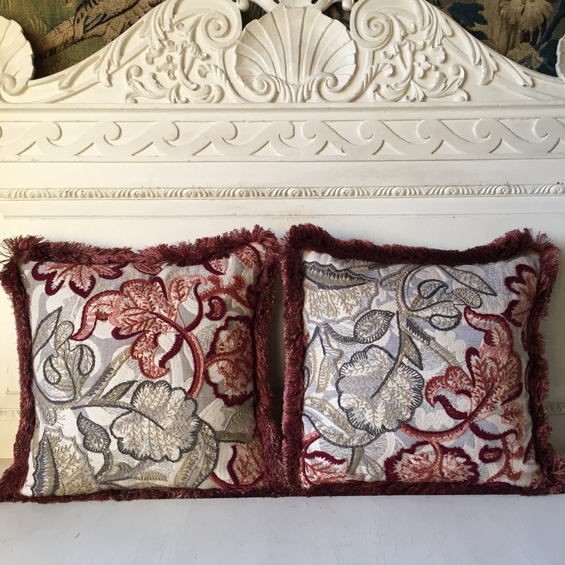 Cherisay Crewelwork Embroidery Cushions