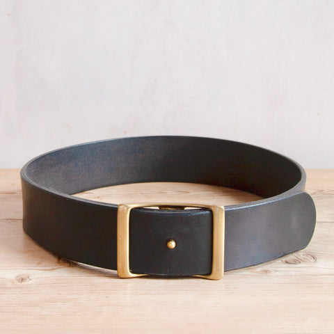 Bridle Leather Belt, Black,  1.75""
