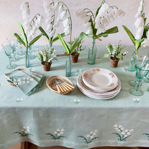 Lily of the Valley Linen Tablecloth