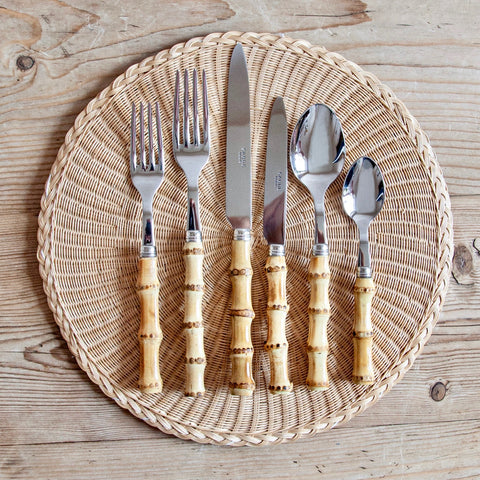 Bamboo Cutlery Set, 6 pieces