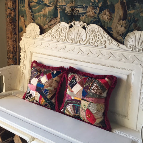 Colombier Patchwork Embroidery Cushions