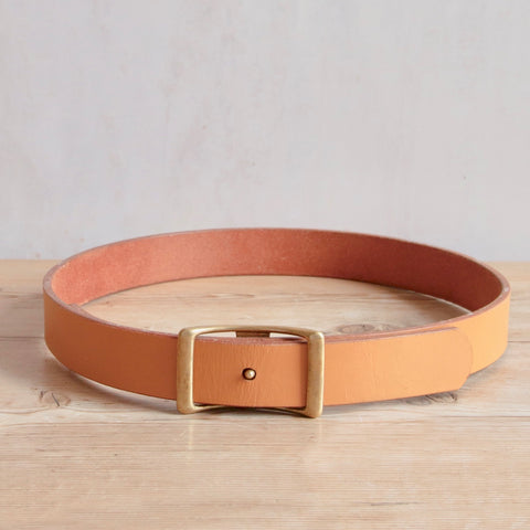 Bridle Leather Belt, Light Brown, 1.75""