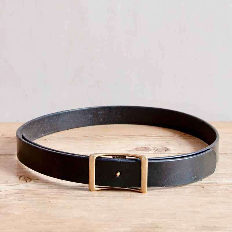 Bridle Leather Belt, Black, 1.25""